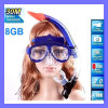720p HD Video 30m Deep 8g 32g Swim Sport Diving Waterproof Underwarter Mask Camera DVR