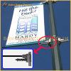 Уличный свет Поляк металла рекламируя приспособление знамени (BT-BS-014)