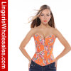 Ropa interior Orange Flower Printed Corset de señora