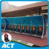 Refugio del equipo de fútbol VIP con asientos de coches de carreras