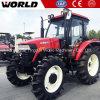 110HP Tractor de met 4 wielen van het Landbouwbedrijf van de Aandrijving van de landbouw