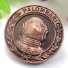 Moneta di rame dell'oggetto d'antiquariato su ordinazione del metallo 3D