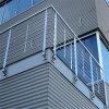 Facile installer le modèle de pêche à la traîne de Rod d'acier inoxydable pour le balcon