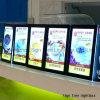 대중음식점을%s 최고 호리호리한 아크릴 LED 메뉴 가벼운 상자