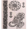 Etiqueta engomada del tatuaje del pelo con la etiqueta engomada del tatuaje del arte del modelo de flor