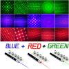 6 pena verde vermelha do ponteiro do laser do diodo emissor de luz do azul de In1 5MW