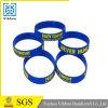 Il Wristband su ordinazione del silicone di Debossed con colore ha riempito