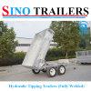 vaciado Tralier del cargo del acoplado de 3000kgs ATV