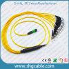 Cabo de correção de programa da fibra óptica MPO-St