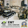 Le sofa réglé de pièce du sofa VIP d'entrée d'étoile de sofa luxueux d'hôtel a placé (EMT-LS02)