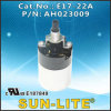 Douille de lampe de commutateur de molette de spire du bas E17, (type de soudure terminaux.) ; E17-22A