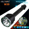 Buceo Profesional antorchas LED, militar buceo linterna W39 (CE, RoHS)