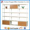 Estante para libros de madera del MDF de seis puertas para la oficina