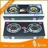 2 плита горелки чугуна верхних латуни 120mm Tempered стекла горелок/газовая плита Jp-Gcg278