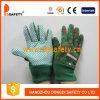 Ddsafety 2017 перчаток малышей с зелеными многоточиями на ладони