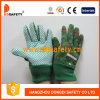 Перчатки малышей/детей. Зеленые многоточия на ладони. (DGK414)
