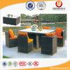 La Tabella di pranzo moderna del rattan del giardino ha impostato (UL-521)