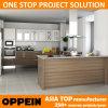 Cabinas de cocina de madera de la venta de Oppein de Kenia de la melamina caliente del proyecto (OP15-M04)