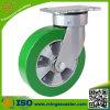 Industrielle Fußrolle mit 200mm elastischen PU-Rädern