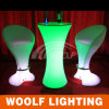 LED Lighting High Top Cafe Bar Tables