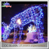 110V-230V lumière de corde de motif de renne de Noël DEL 3D