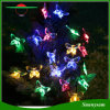 Feriado solar que ilumina lâmpadas coloridas da decoração do jardim do partido do evento do casamento do Natal da luz da corda do diodo emissor de luz da borboleta