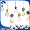 Hängende Lampe der Weinlese-DIY mit rundem kupfernem Halter der Lampen-E27