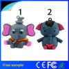 Movimentação bonito do flash do USB do estilo do elefante dos desenhos animados do presente da promoção