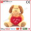 Perro de los animales rellenos del día de tarjeta del día de San Valentín de la alta calidad