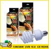 De gelukkige ReptielLamp UVB 10.0 van Herp 13W 26W UVB150 Compacte Fluorescente Bol
