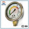 Indicateur de pression rempli d'huile d'azote de silicium de mesure de lentille de contact d'acier inoxydable