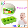 BPA geben Silikon-Säuglingsnahrung-Vorratsbehälter-Gefriermaschine-Tellersegment frei