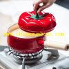 [سنغل-هندل] [سونبوأت] أحمر حساء آنية بندورة مينا إناء/اثنان آذان, مخزون إناء
