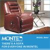 現代リクライニングチェアの革ソファーの家具