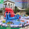 Inflable flotante del parque acuático, Tobogán inflable langosta de agua con piscina