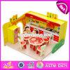 I nuovi bambini di disegno fingono il giocattolo di legno W03b058 della cucina del gioco DIY