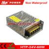 24V 2.5A 60W LED 변압기 AC/DC 엇바꾸기 전력 공급 Htp