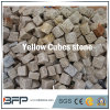 Cubes en pierre foncés en jaune du désert G682 pour le projet de l'Europe