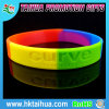 Самый лучший популярный двойной браслет силикона флуоресцирования цвета
