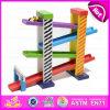 Поезд рельса игрушек конструкции способа деревянный для детей W04e011