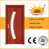 Porte en bois de contre-plaqué de teck intérieur en verre résidentiel de qualité (SC-W099)