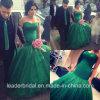 Grüner Berühmtheits-Kleid-Schatz-Spitze-Tulle-Partei-Abschlussball kleidet P16723