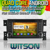 Witson S160 Car DVD GPS Player para Suzuki Grand Vitara (2005-2012) Rk3188 Quad Core HD 1024X600 Tela 16GB Flash 1080P WiFi 3G frente DVR DVB-T Pipa de espelho