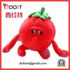 Le chiffre rouge cadeau mignon heureux de tomate de peluche de fruit badine le jouet