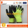 Gant de travail de pli enduit par latex noir (DNL414)