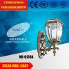 Indicatore luminoso esterno della parete con energia solare
