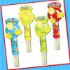 甘いキャンデーの管が付いているおかしい子供のファンおもちゃ
