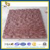 Revêtement naturel de mur en pierre de granit rouge (YQZ-GT)