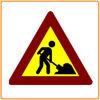 저가 안전 사려깊은 경고 삼각형 교통 표지