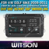 폭스바겐 Series (New Version) (W2-D8241V)를 위한 GPS를 가진 Witson Car DVD Player Capacitive Screen Bluntooth 3G WiFi OBD DSP를 가진 CD Copy